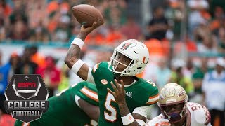 Miami rallies to beat Florida State behind N'Kosi Perry's 4 touchdowns | CFB Highlights