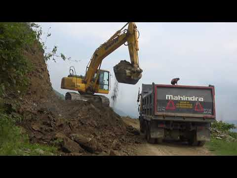 Mountain Blasting & Road Construction on Himalaya By Big machine.
