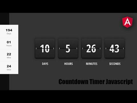 Countdown Timer In Angular - Angular Tutorial