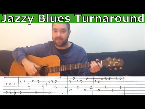 Tutorial: A Fingerstyle Jazzy Blues Tune (Leisure Suit Larry Theme) - Guitar Lesson w/ TAB