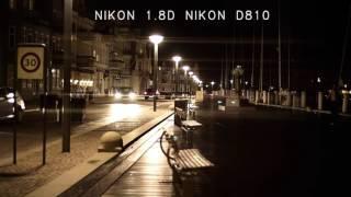 HELIOS 44-2 vs Nikon 50mm 1,8D Anamorphic lens flare (VIDEO)