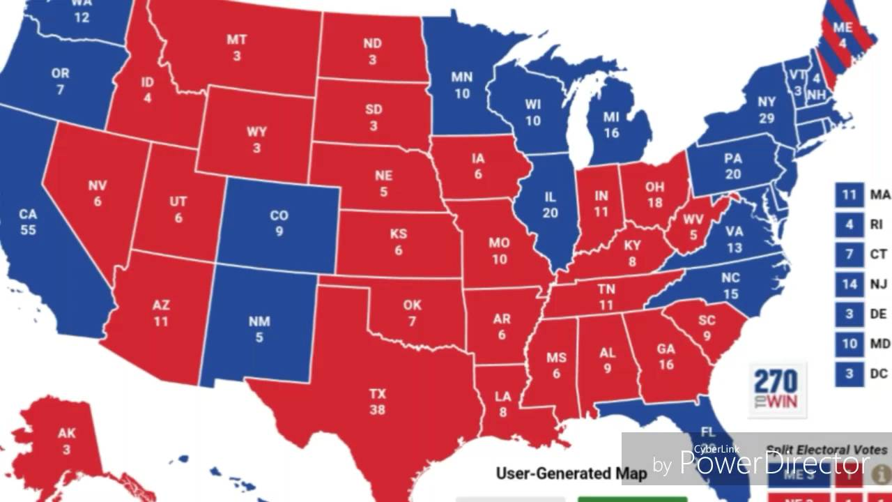 Cnn Us Election Map - Final us electoral map 2016