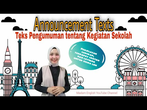 Announcement Texts at School