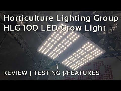 Hlg 100 Led Grow Light Review Youtube