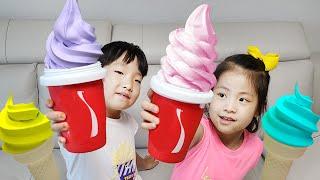 흔들면 아이스크림을 만들수 있어요 서은이의 아이스크림 …