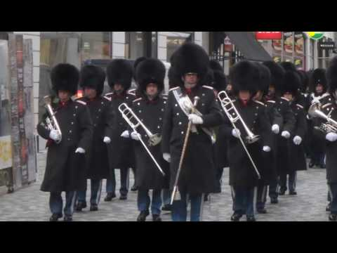 Livgarden (Royal Life Guards), Købmagergade, Copenhagen, 7.2.2017