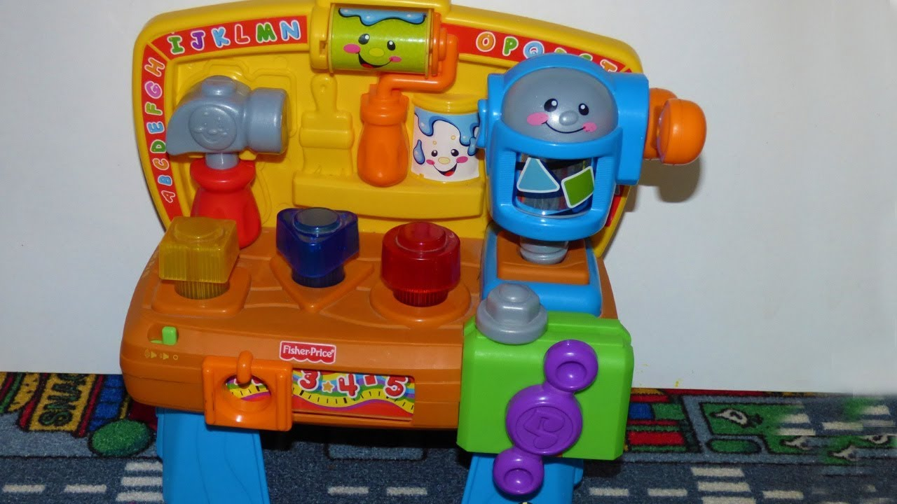 Fisher Price Laugh Learn Learning Workbench toy - YouTube