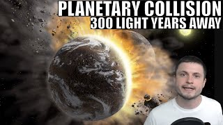 We Found Signs of a Large Planetary Collision 1000s Years Ago