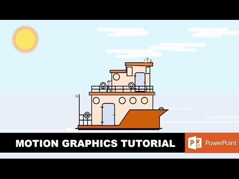 Flat Boat Design and Animation | Motion Graphics in PowerPoint 2016 Tutorial