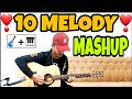 10 Popular Songs Melodies Mashup Cover on Guitar by FUXiNO | Guitar Tabs For Bollywood Hindi Songs