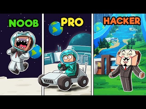 Minecraft - NOOB vs PRO vs HACKER - MOON BASE!