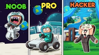 Minecraft - NOOB vs PRO vs HACKER - MOON BASE!