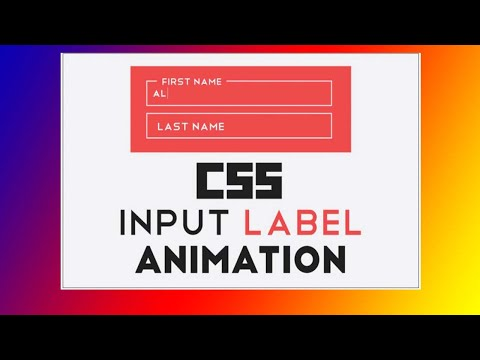 CSS Input Label Animation | HTML Form Placeholder Above Inputs