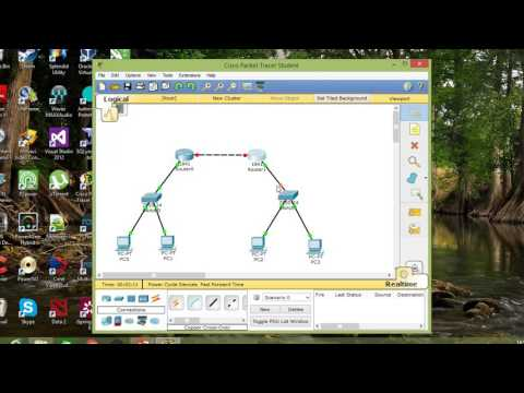 Cisco Packet Tracer | Simple network (2 Router, 2 Switch, 4 PC with Rip Routing)