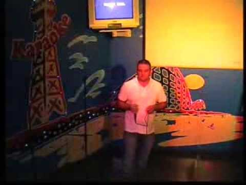 Dean hall singing at  Gaietys karaoke blackpool 2011
