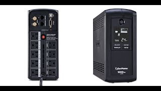 How does a UPS work? LIVE DEMONSTRATION CyberPower UPS: https://amz...