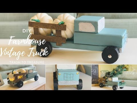 🛠FARMHOUSE DIY VINTAGE TRUCK DECOR|TRASH TO TREASURE|SCRAP WOOD DIY🛠