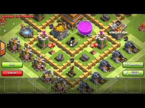 CLASH OF CLANS LEVEL 5 TOWNHALL BEST DEFENCE