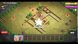 Clash of Clans:Attacking Two Smoking Barrels