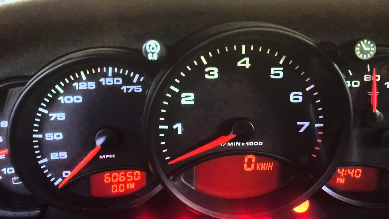 HOW TO CHANGE KILOMETERS TO MILES PORSCHE 996 911
