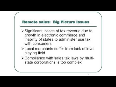 WV Legislature - Joint Tax Reform Committee Learns About Streamlined Sales Tax Inc. Governing Board