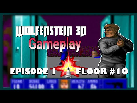 Wolfenstein 3D (1992) Grandfather of all first person shooter game | Gameplay | Episode-1-Floor-10 |