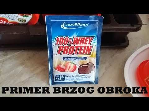 Day in life #9 Primer brzog obroka - Whey protein - (An example of a fast meal)