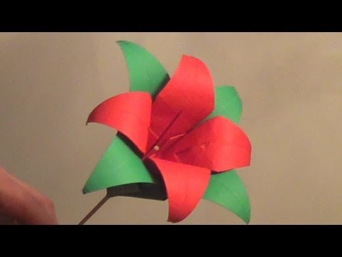 Origami Lily Flower Tutorial - How to make an Origami Lily Flower