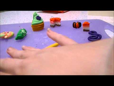 Making a music treble cleff with polymer clay