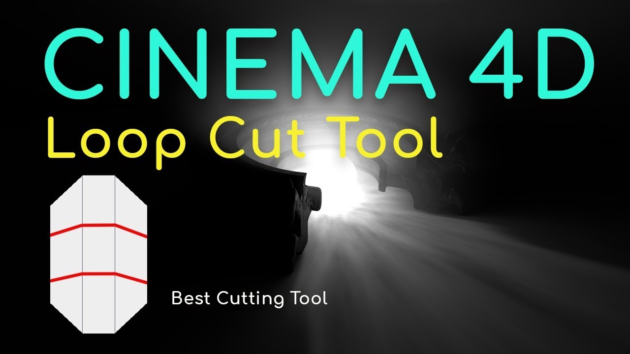 Cinema 4d: Loop Cut tool for modeling tutorial