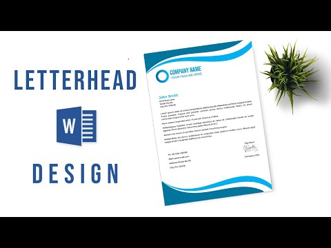 Design A Printable Letterhead In Microsoft Word | Ms Word | Letterhead Design