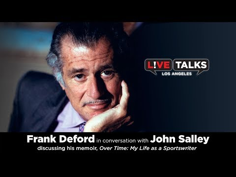 Frank Deford in conversation with John Salley at Live Talks Los Angeles