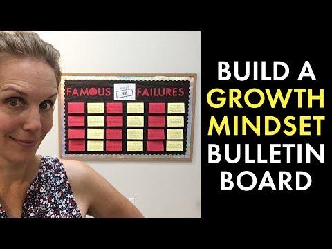 Growth Mindset in the Classroom, Famous Failures Bulletin Board, High School Teacher Vlog