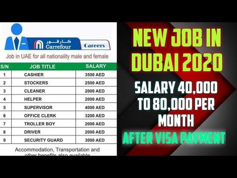 New Job in Dubai, Salary 40,000 to 80,000 Per Month, Apply Fast, Dubai jobs 2020.