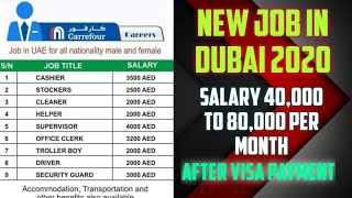 New Job in Dubai, Salary 40,000 to 80,000 Per Month, Apply Fast, Dubai jobs 2020.