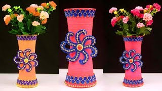 Gambar cover DIY Flower Vase out of Disposable Plastic Glass/Flower Pot Making at Home/Best Out of Waste