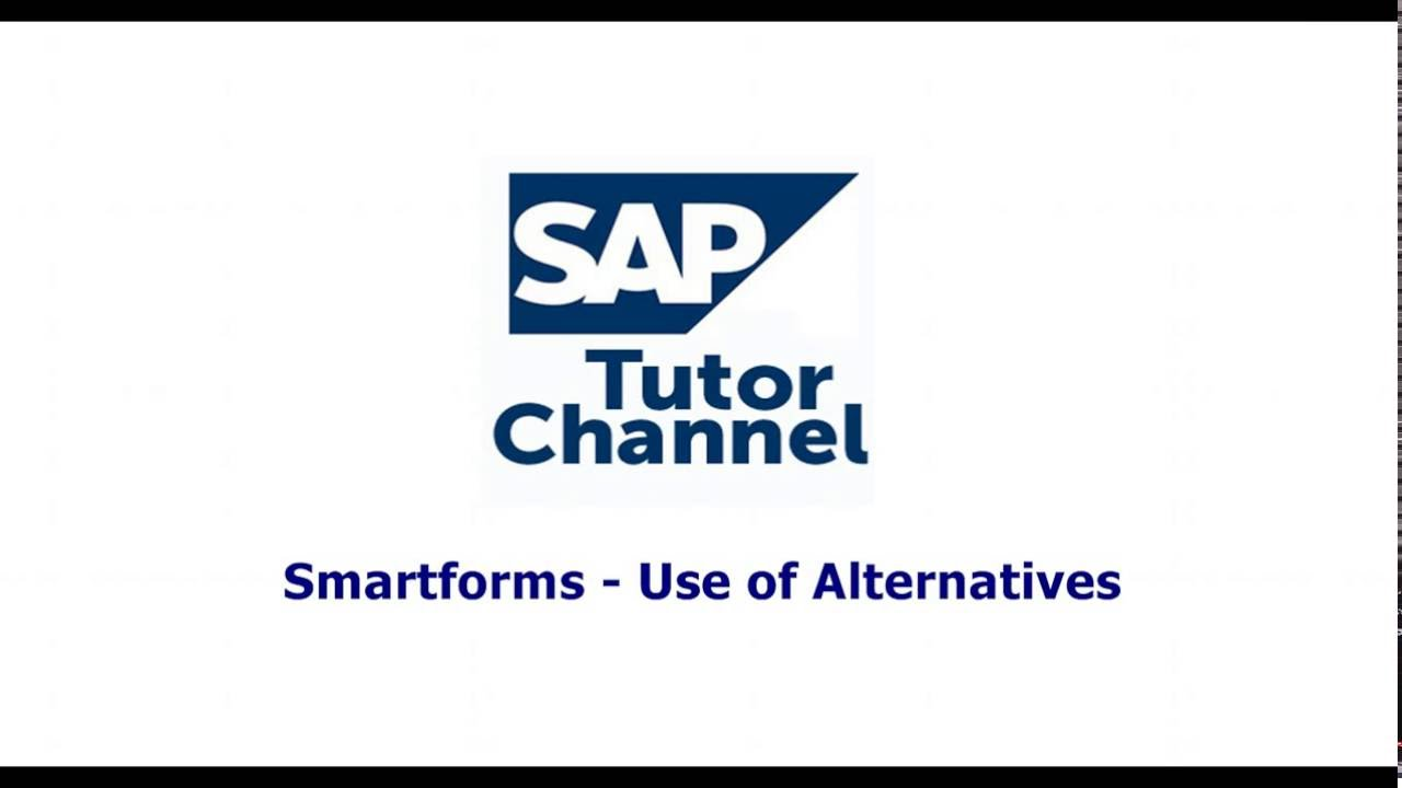 Smartforms   Use of Alternatives
