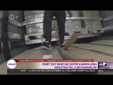 Az M1 híradóban a migránsos videó