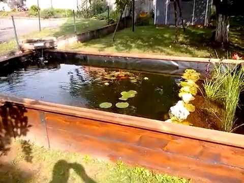 Bassin hors sol youtube for Amenager petit jardin 50m2