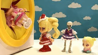 はぐっとプリキュアおもちゃアニメ★おばけに追いかけられて・・ガイコツ!?手さぐりボックスすぽすぽ動画