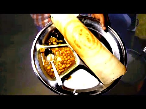 DOSA and LUCHI (Indian Style) at Hatirjheel   Street Food Dhaka   Street Food Making Video 2017