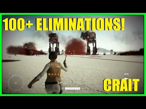 Star Wars Battlefront 2 - 100+ eliminations game on Crait! | Leia, best hero for new map!
