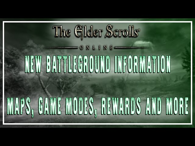 ESO | Battlegrounds New Information! | Morrowind Expansion