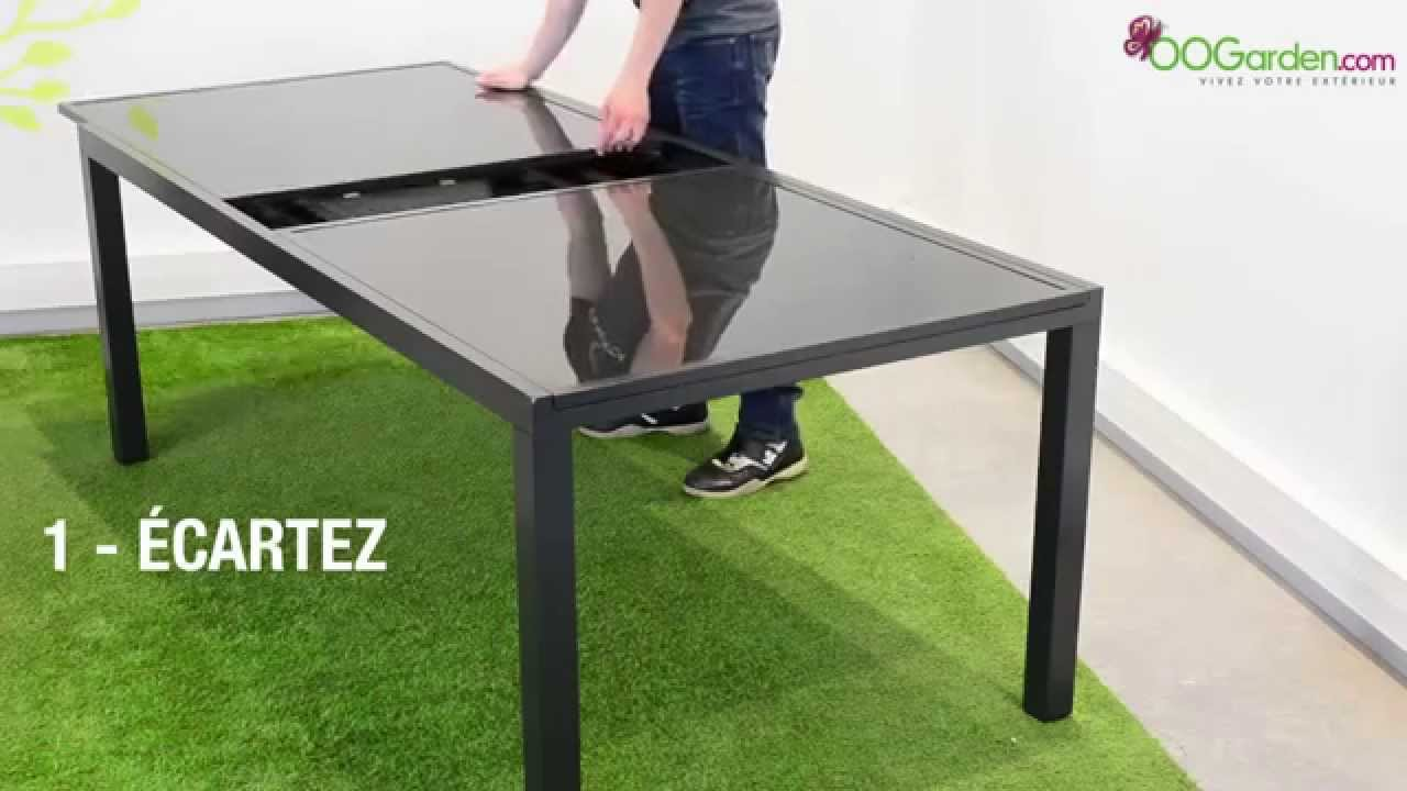 oogarden table de jardin palerme avec rallonge 200 300 cm youtube. Black Bedroom Furniture Sets. Home Design Ideas