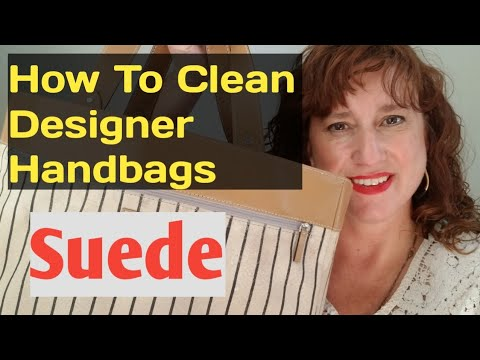 How To CLEAN DESIGNER Handbags SUEDE Leather Interior to resell on Ebay Poshmark Kate Spade