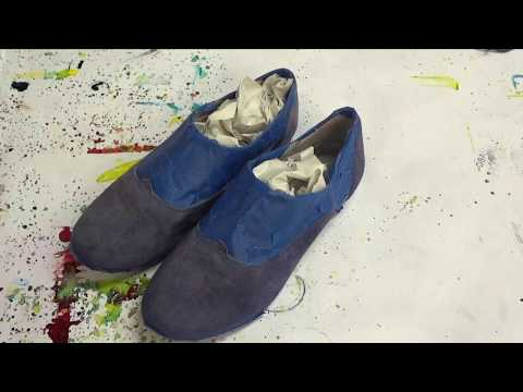 Dye-Na-Flow Blue Suede Shoes
