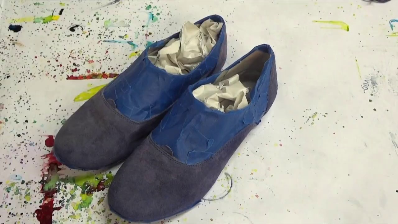 77efff7160e8 Dye-Na-Flow Blue Suede Shoes - YouTube