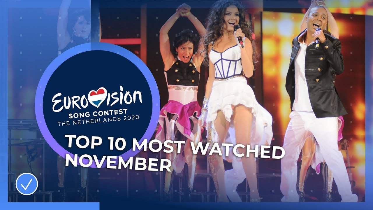TOP 10: Most watched in November - Eurovision Song Contest