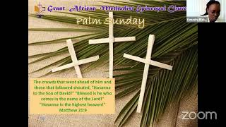 Palm Sunday Worship Service, March 28 2021; Rev. Mindy Mayes, Bethel AME Church, Noblesville, IN