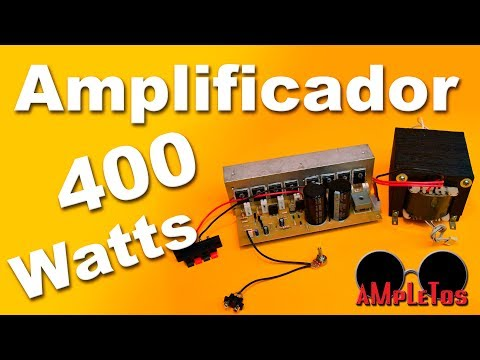 Amplificador Monofonico De 400 Watts Con Transistores